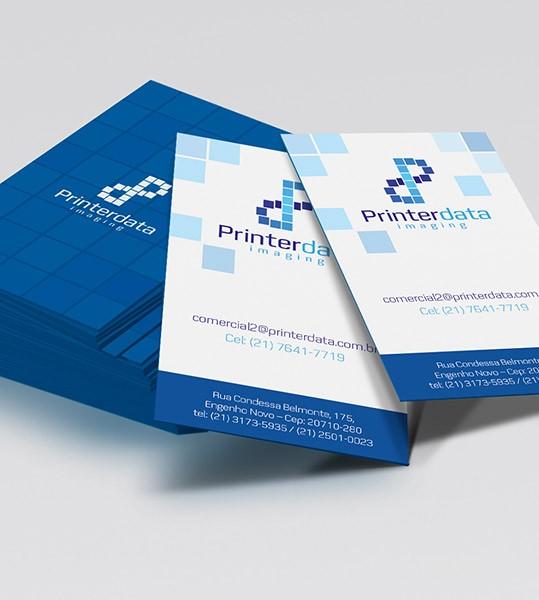 Identidade visual para Printerdata, tradicional empresa de impressão eletrônica de dados variáveis.…