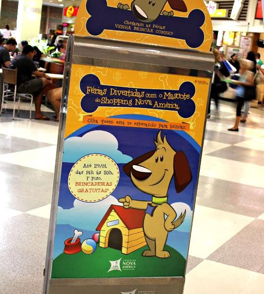 Com a expansão do Nova América, o shopping sentiu a necessidade de investir em um novo espaço dedicado às crianças.  Assim, desenvolvemos um simpático cãozinho da raçagolden retriever cujo nome foi…